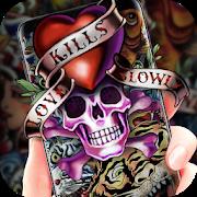 Graffiti Skull Theme-SocialPeta