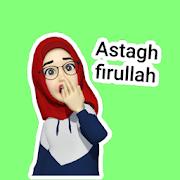 Stiker WA Hijab Muslim Cantik Islami WAStickerApps-SocialPeta