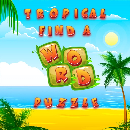 Tropical Find a Word Puzzle-SocialPeta