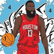 Basketball Sandbox - Tap color by number-SocialPeta